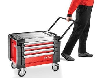 JET.CR4M3 Mobile Chest Jet M3 4 Drawer Red